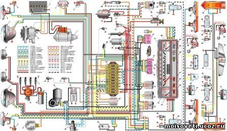 Электросхема Ваз 2101 2102