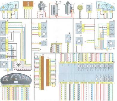 Электросхема Лада Калина