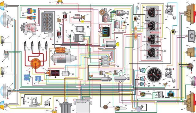 УАЗ–31512 Электросхема