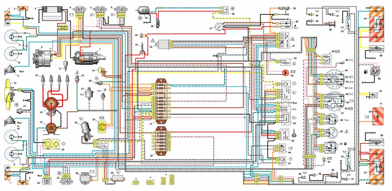 электро монтажная схема ваз 2106