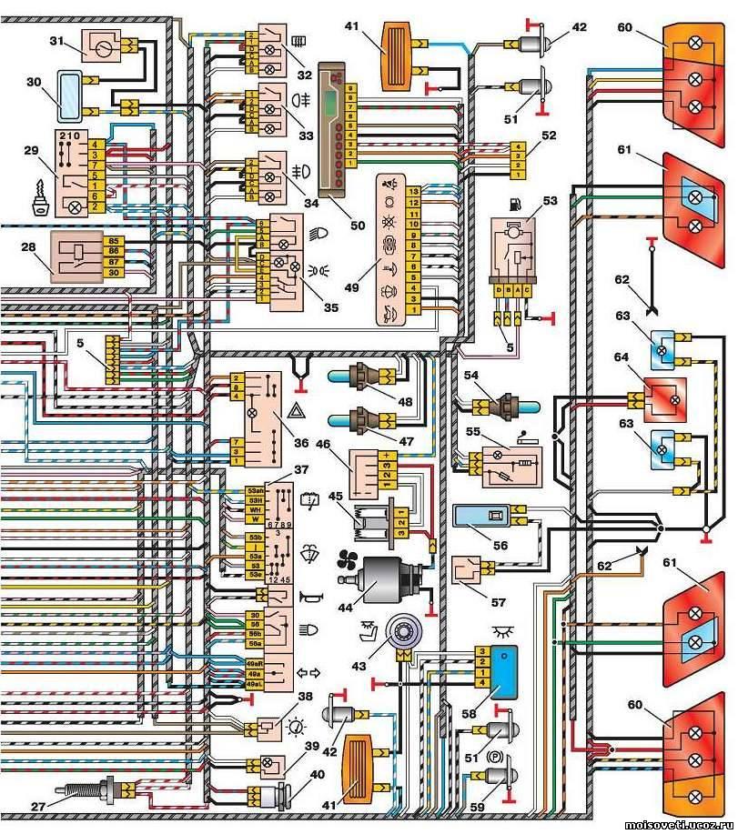 2114 электрическая схема ваз