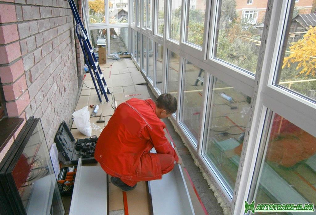 Остекление и утепление балконов и лоджий.