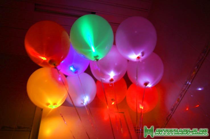 Не просто воздушные, но еще и светящиеся шары