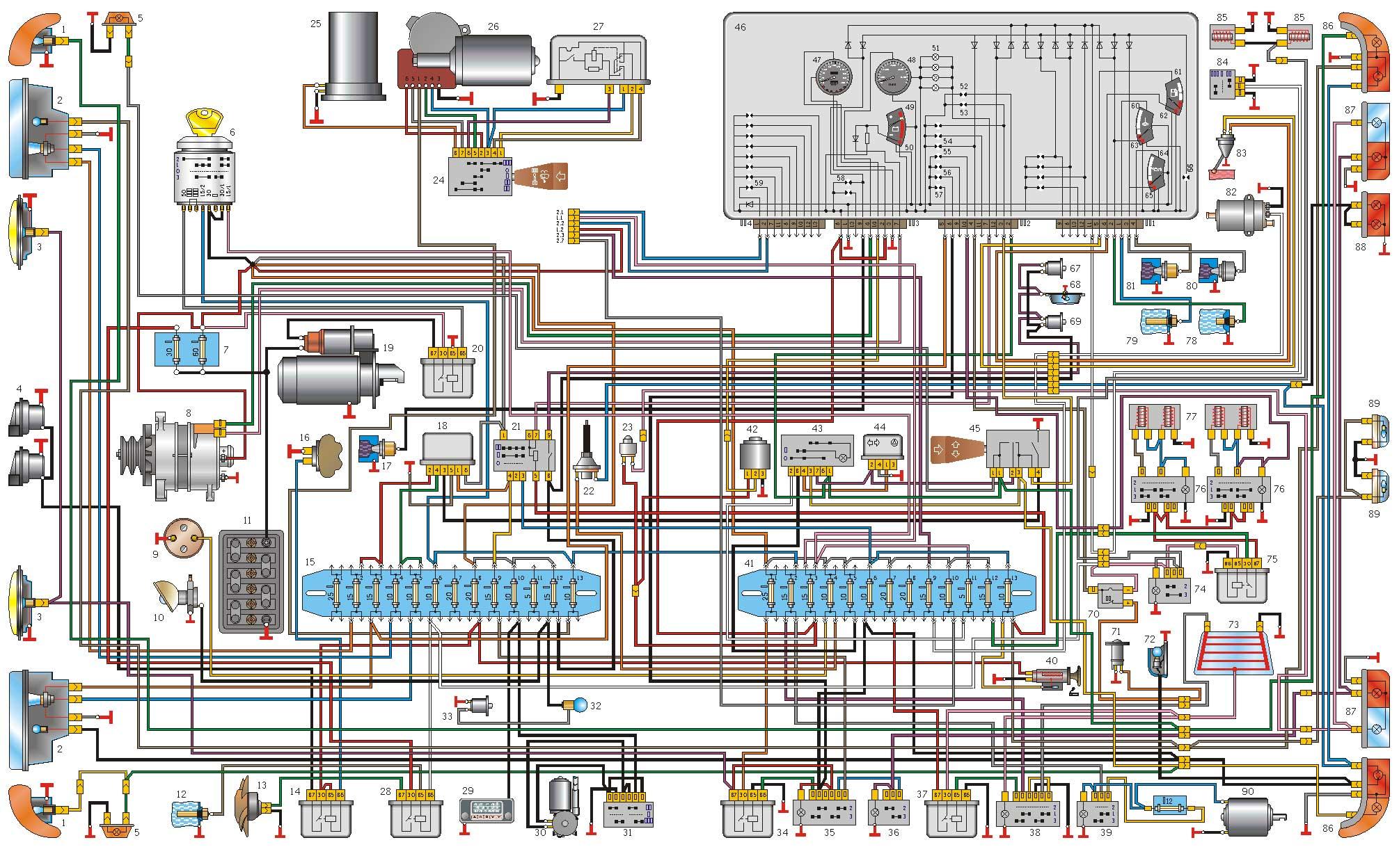 схема электропитания автомобиля ваз 21074