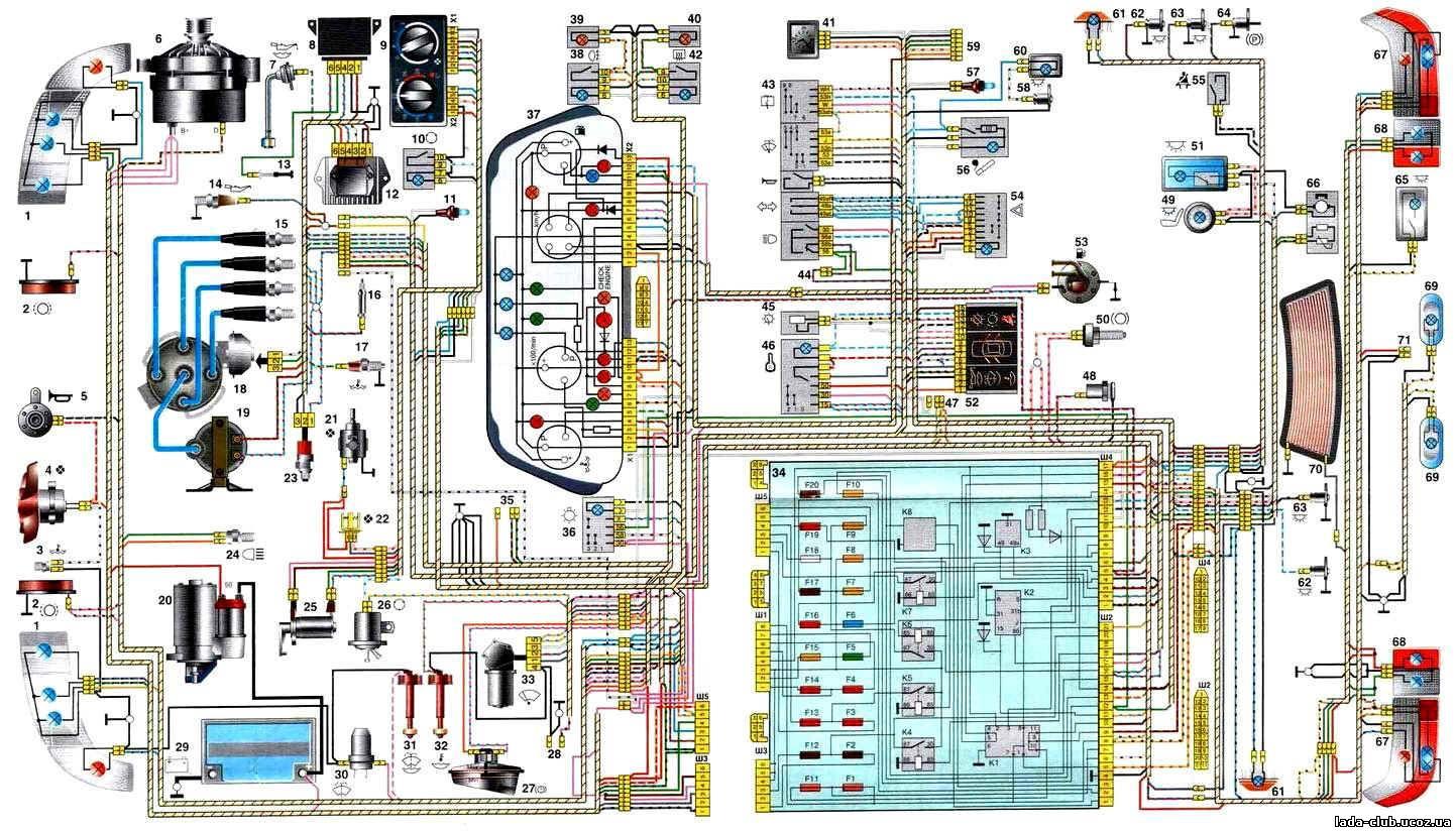 Схема эл проводки ваз 2112 2002 г.в.