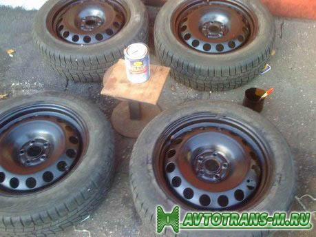 Как самостоятельно покрасить колесные диски